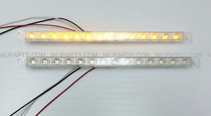 12 14 Led Light Strip Clear Amber For Kenworth Peterbilt Freightliner Fld Pair