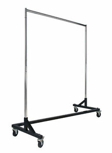 Z Rack Clothing Rack New Adjustable Height Black Base Special Sale