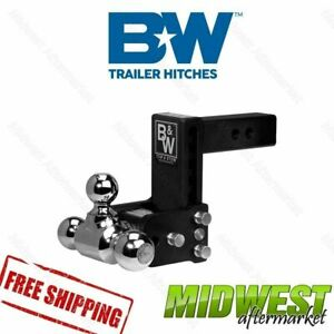 B W Tow Stow Black Hitch 1 7 8 X 2 X 2 5 16 Tri Ball 5 Drop 5 5 Rise