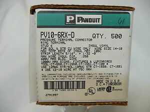 Panduit Terminal Connector Pv 10 6rx Box Of 500