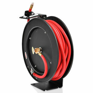 3 8 X 50 Auto Rewind Retractable Air Hose Reel Compressor 300 Psi New