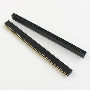 50pcs Gold Plated 1 27mm Pitch Double Row 2x50 Pin 100 Pin Female Header Strip