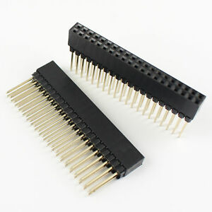 50pcs 2 54mm Pitch 2x20 Pin 40 Pin Double Row Long Pin Female Header Strip Pc104