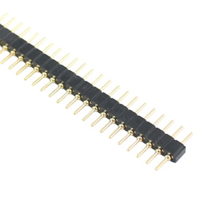 10pcs Gold Plated 2mm 2 0mm Pitch 40 Pin Single Row Male Round Pin Header Strip