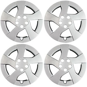 New Set Of 4 15 Silver 5 Spoke Hubcaps Wheel Covers For 10 11 Corolla