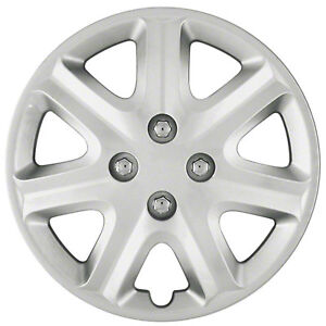 Wheel Covers Hubcaps New Set Of 4 Silver Painted 15 For 2003 2005 Honda Civic