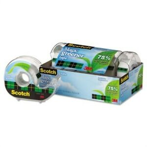Magic Greener Tape In Refillable Dispenser 3 4 X 600 1 Core 6 pack 2 Pack
