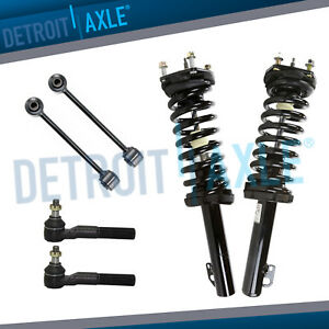6pc Front Struts Outer Tie Rods For 2005 2010 Jeep Grand Cherokee Commander
