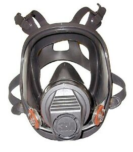 3m 6000 Series Full Facepiece Respirator Reusable Size Large With Eye Protection