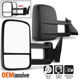 Fit 1988 98 Chevy Gmc C K 1500 2500 3500 Towing Manual Side Mirrors Replacement