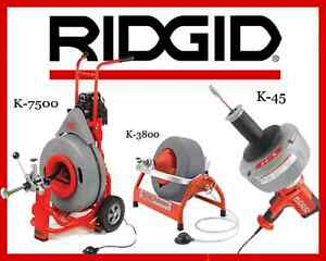Ridgid K 7500 Drum Machine 60052 K 3800 Machine 53117 K 45 1 Sink Machine 36013