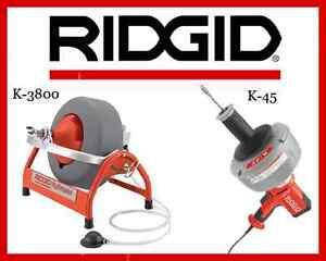 Ridgid K 45 1 Sink Machine 36013 Ridgid K 3800 Drum Machine 53117