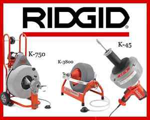 Ridgid K 750 Drum Machine 42007 K 3800 Machine 53117 K 45 1 Sink Machine 36013