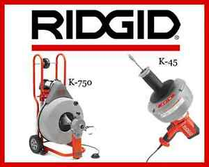 Ridgid K 45 1 Sink Machine 36013 Ridgid K 750 Drum Machine 42007