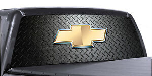 Vuscapes Truck Rear Window Graphic 4 Sizes Avial chevy Diamond Plate