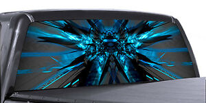 Vuscapes Truck Rear Window Graphic 4 Sizes Avial electric Blue Venom