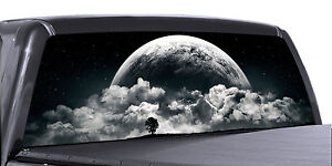 Vuscapes Truck Rear Window Graphic 4 Sizes Avial Full Moon Rising