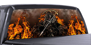 Vuscapes Truck Rear Window Graphic 4 Sizes Avial Grim Reaper