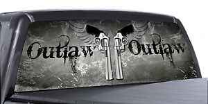 Vuscapes Truck Rear Window Graphic 4 Sizes Avial outlaw Guns