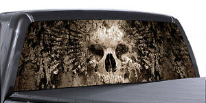 Vuscapes Truck Rear Window Graphic 4 Sizes Avial Petrified Skull