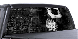 Vuscapes Truck Rear Window Graphic 4 Sizes Avial Skull
