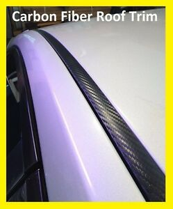 For 2008 2011 Ford Focus Black Carbon Fiber Roof Top Trim Molding Kit