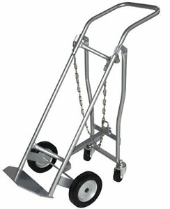 Milwaukee Hand Trucks 40767 Medical Cylinder Truck 1 Gas Cylinder With Retracta