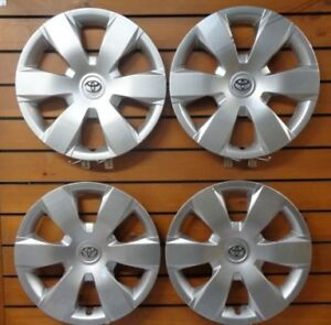 New Set 4pcs 16 Hubcaps Wheel Covers 2007 2011 Toyota Camry 61137