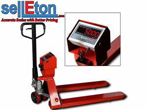 Industrial Warehouse Pallet Jack Scale With 5000 X 1 Lb