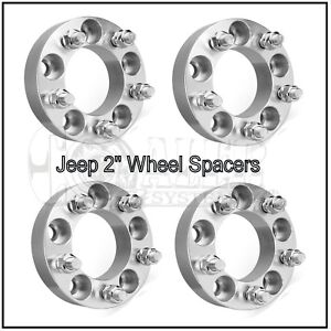 4 2 Jeep Hubcentric Wheel Spacers Jk Wrangler Grand Cherokee Silver