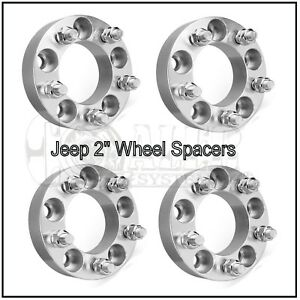 Set Of 4 Wheel Spacers 2 Adapters 5x5 Or 5x127 Jeep Jk Wrangler Grand Cherokee