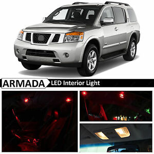 19x Red Interior Led Light Package Kit For 2004 2015 Armada