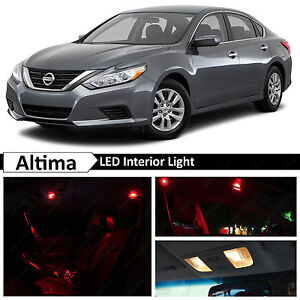13x Red Led Lights Interior Package Kit For 2015 2016 Altima