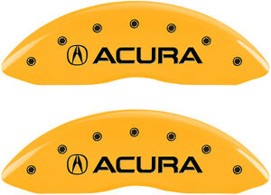 Brake Mgp Caliper Dust Cover Front Rear Yellow Paint Wheels Acura Mdx 2007 2013