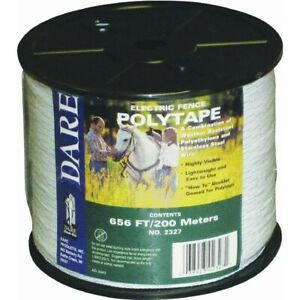 Electric Fence Poly Tape no 2327 Dare Products Inc 3pk
