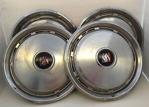 Set Of 4 Buick Electra Hub Caps Wheel Covers 15 Diameter 10 Slot Vtg Used