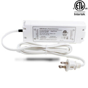 Ledupdates 12v 50w Triac Dimmable Power Supply Led Driver Ac To Dc Etl Listed