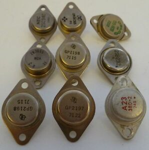 9 Used Transistors Texas Instruments Delco Rca Mec Old Parts Vtg
