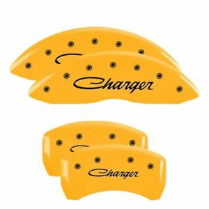 Mgp Caliper Brake Covers For Dodge 2011 2016 Charger Yellow Paint 12162schsyl