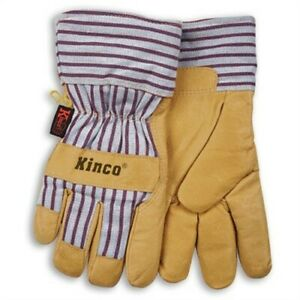 Kinko Cold Weather Pigskin Leather Work Gloves X large no 1927 Xl 3pk