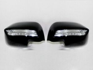 Fit For Nissan March 2010 2012 Black Side Mirror Cover Trim 2 Pcs