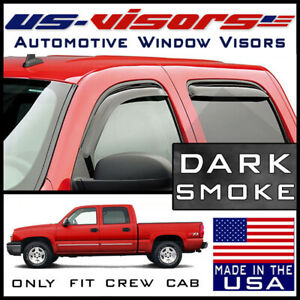 Us Visors 2001 07 Chevy Silverado Crew Cab Window Vent Visors In Channel 4 Piece