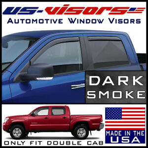 Us visors 2005 15 Tacoma Double Cab Window Vent Visors Rain Guards In channel