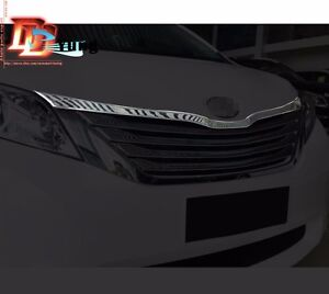 Chrome Front Radiator Hood Lip Mouldings Cover Trim For Toyota Sienna 2011 2016