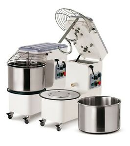 Spiral Dough Mixer 53 Lt 56 Qt 44 Kg 97 Lbs With Timer Made In Italy