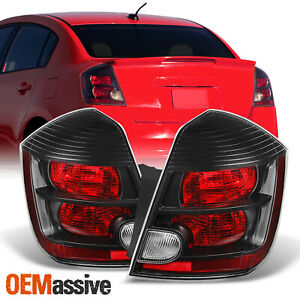 Fits 2007 2008 2009 Sentra Black Tail Lights Brake Lamps Left Right Replacement