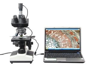 40x 1600x Doctor Vet Trinocular Biological Compound Microscope With Usb Camera