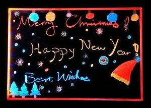 Led Neon Fluorescent Flashing Writing Board Menu Sign Message Dry Erase Gs8d