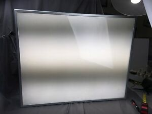 L k Luminaire Ultra Clearr Corp Display Back Lit Electric Sign 30 X 24 Euc