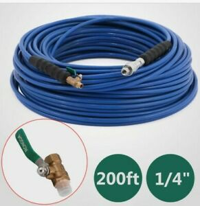 200ft Carpet Cleaning Solution Hose 1 4 Shut off Valve 3000 Psi Soft Efficiency